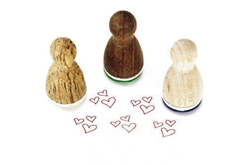 Mini-Stempel Herzen