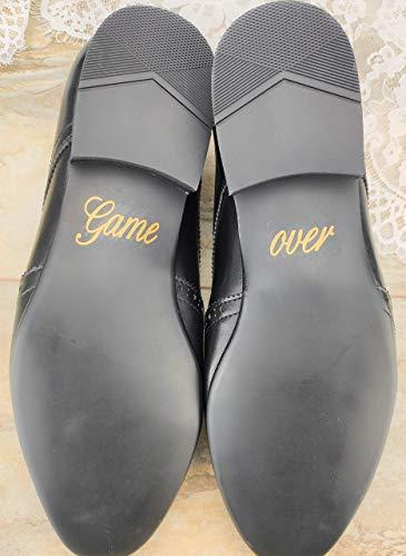 Schuhsticker'Game over' - 13 Farben wählbar - Hochzeit Schuhaufkleber Farbe wählbar - Aufkleber für Schuhe