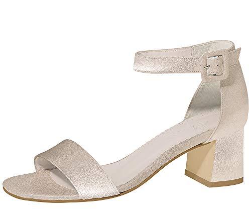 Braut-Sandalen in Rosé-Silber