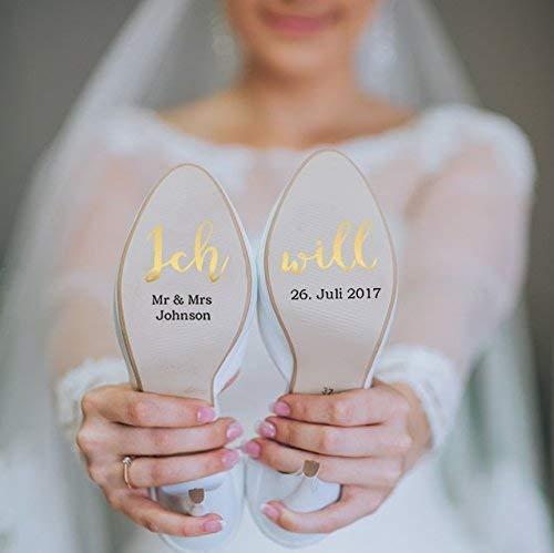 Schuhsticker Hochzeit Braut