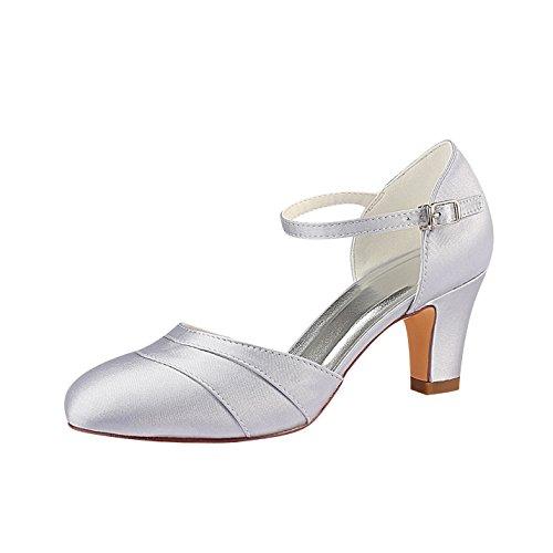 Silberne Braut-Stilettos