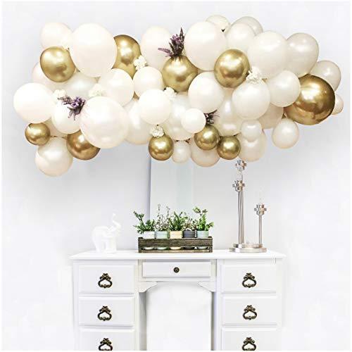 Candy Bar Deko Luftballon-Wolke 100-teilig in Weiß-Gold