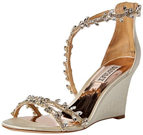 Braut-Keilabsatz Sandale mit Strass