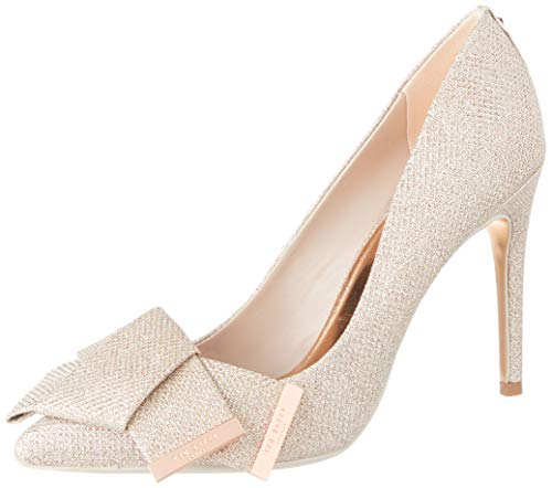 Braut-Pumps mit Glitzerschleife