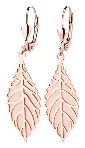 Goldene Braut Ohrringe im Blätterdesign