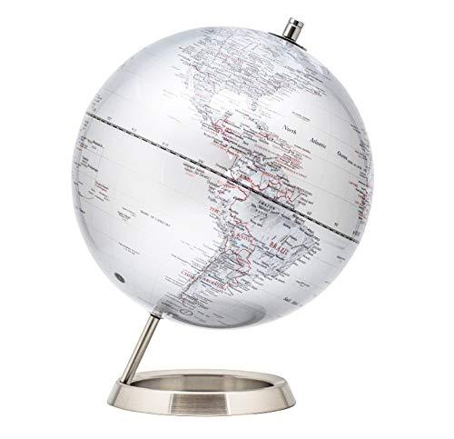 Globus in Silber
