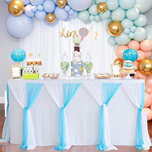 Zweifarbige Candy Bar Tüll-Tischdecke