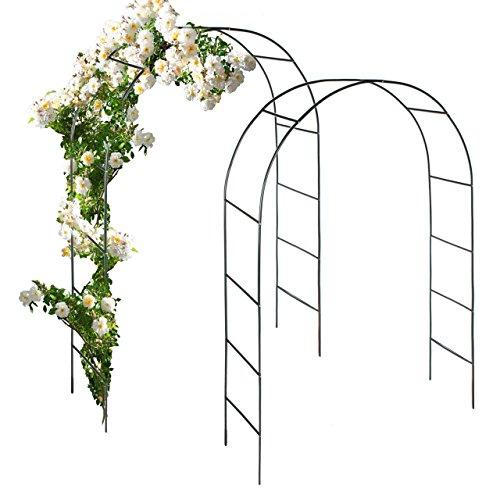 Anaterra Rosenbogen, Rankhilfe für Pflanzen, Rankgitter, Pergola, Spalier, Torbogen aus Metall 240 x 140 x 35 cm, 1/2er Set (2 Stück)