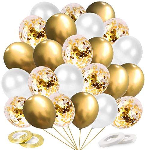 60 JGA Party Luftballons mit Konfetti