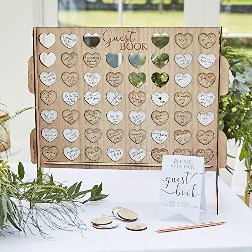 Bingo Herzen Gästebuch