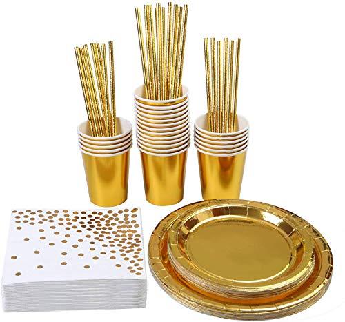 JGA Deko Set: 146-teiliges JGA Party Set in Gold