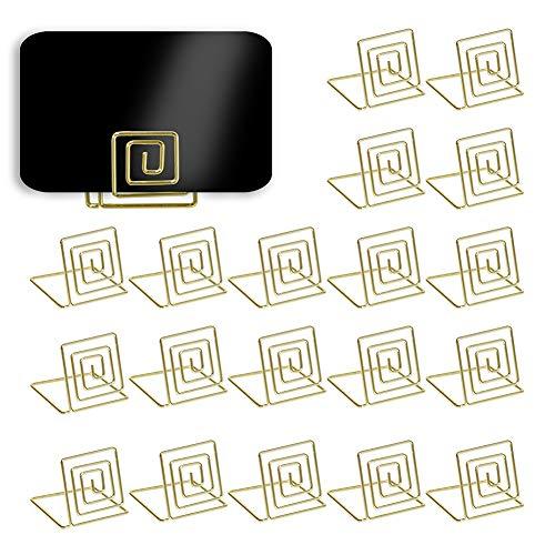 Kartenhalter in Gold, Rosegold oder Silber, 20 Stück