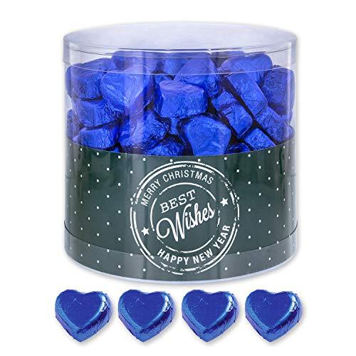 Blaue Schoko-Herzen