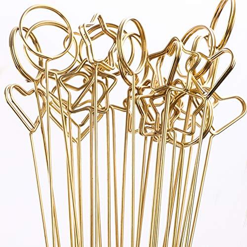Herzförmiger Kartenhalter für große Gestecke und Vasen, 30 Stück