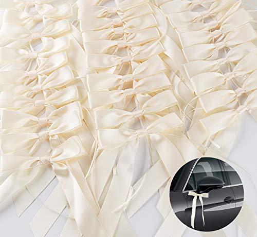 Autoschleifen zur Hochzeit aus Satinband