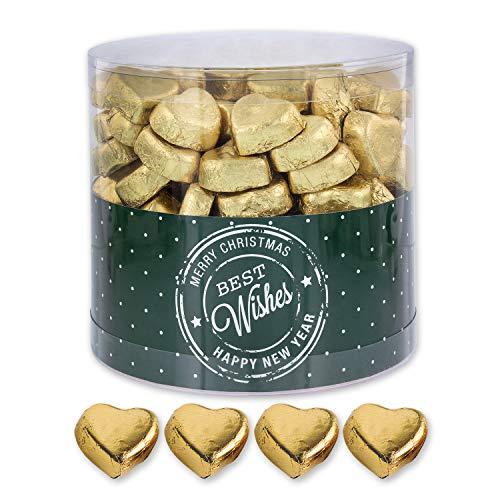 Goldene Schoko-Herzen