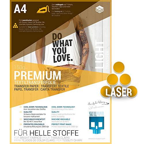 Transferfolie für Laserdrucker | helle Textilien