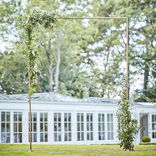 Ginger Ray Copper Wedding Decorative Arch Frame Backdrop Botanisch, Kupfer