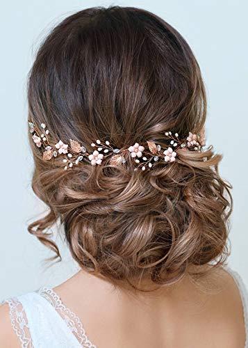 Rosafarbenes Haarband für die Braut