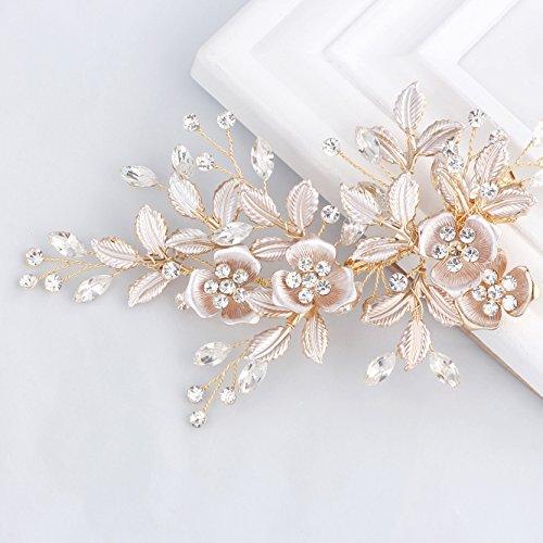 Haarkamm mit Blüten und Perlen