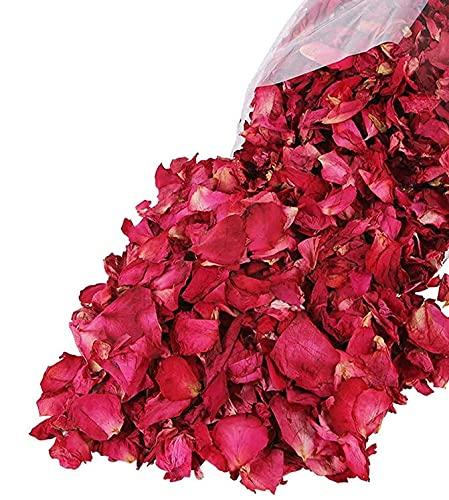 Rote getrocknete Rosenblätter