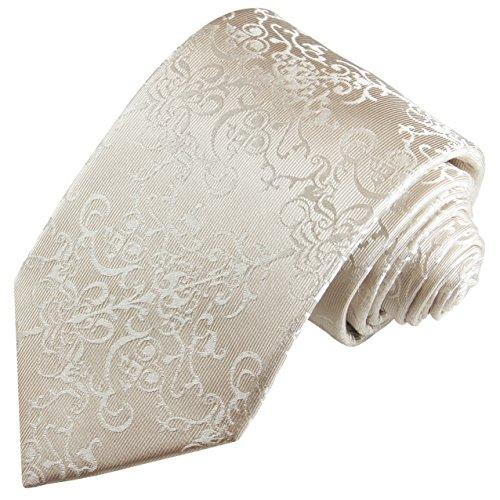 Seiden-Krawatte und Einstecktuch zur Hochzeit Rankenmuster