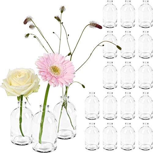 20 Mini-Flaschenvasen 9,5 x 5 cm