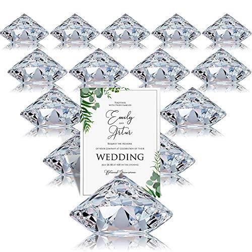Tischkartenhalter Diamant, 24 Stück