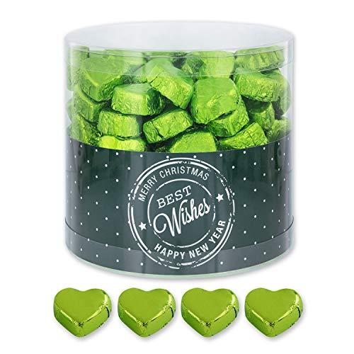 Grüne Schoko-Herzen