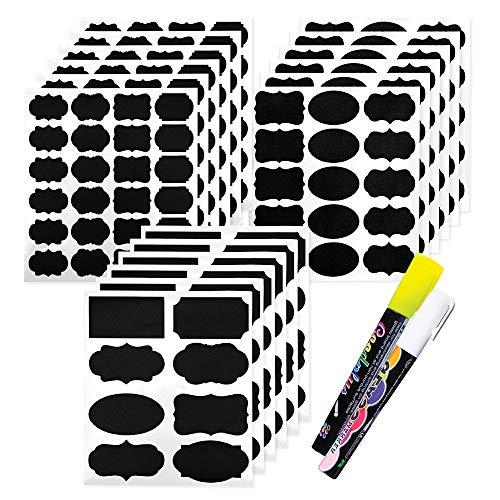 173 Candy Bar Schilder zum Aufkleben mit 2 Kreidemarkern