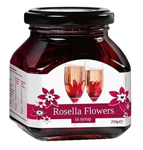 Wilder Hibiskus-Blüten in Sirup