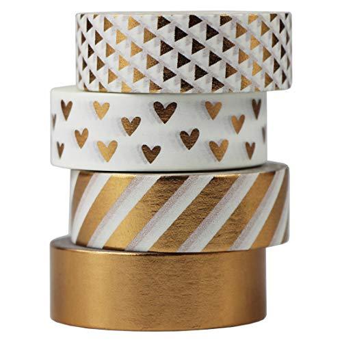 Weißgoldenes Washi-Tape mit Muster