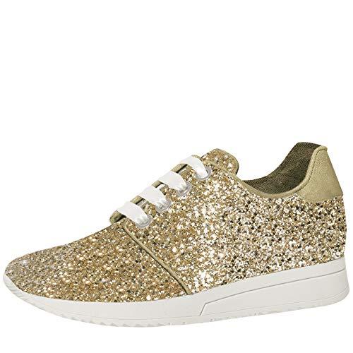 Gold glitzernde Braut-Sneaker