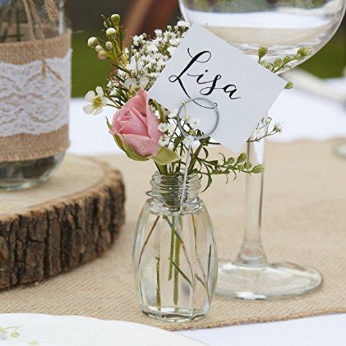 Runde Kartenhalter für alle Gestecke und kleine Vasen, 4 Stück