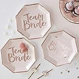 ROSE GOLD FOILED TEAM BRIDE PAPER PLATES - TEAM BRIDE