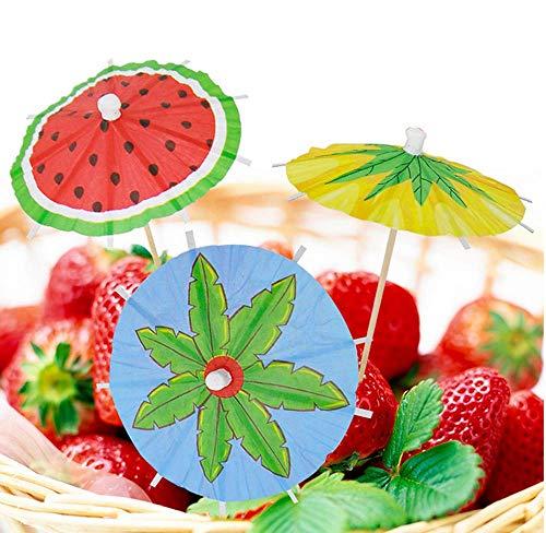 20 Papierschirmchen im süßen Früchte-Look