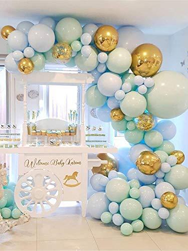 Candy Bar Luftballon-Girlande 100-teilig in Weiß-Gold