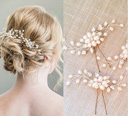 Haarnadeln mit Perlen
