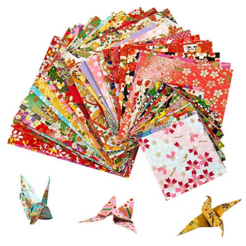 60 Bögen Origamipapier in Blumendesign