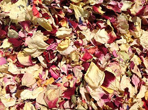 Blütenkonfetti aus getrockneten Blüten