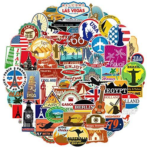 100 Reise-Sticker