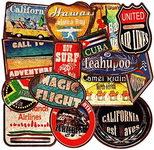 36 Reise-Sticker Vintage