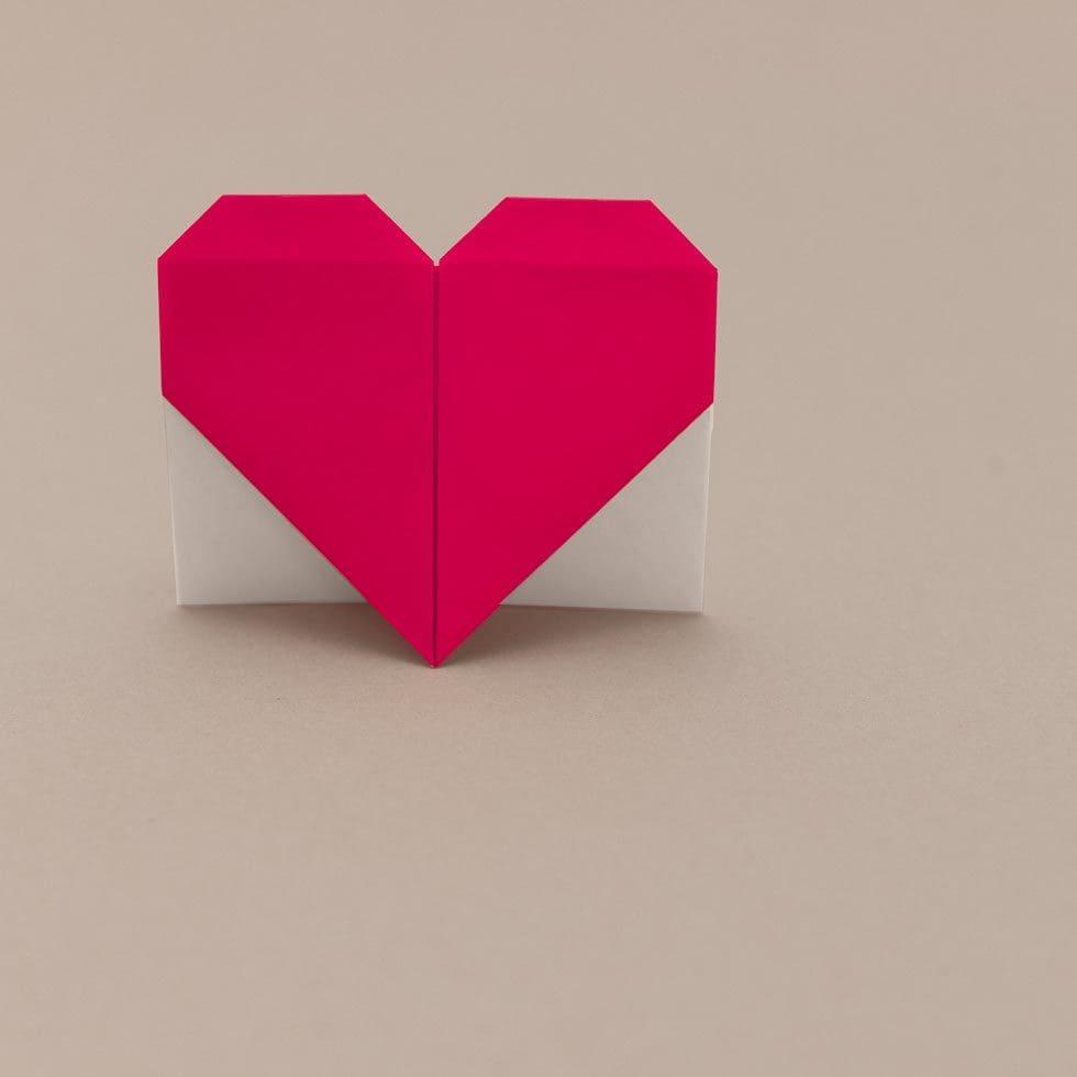 Lesezeichen Herz Origami