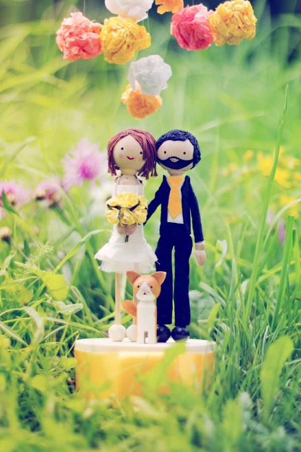 Liebevolle Tortenfiguren für eure Hochzeitstorte