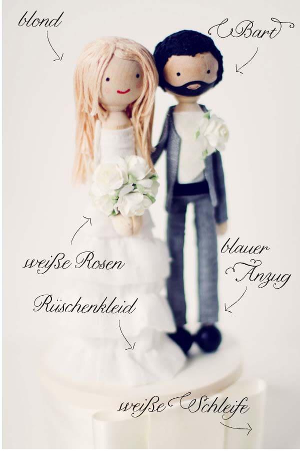Individuelle Tortenfiguren Hochzeitstorte