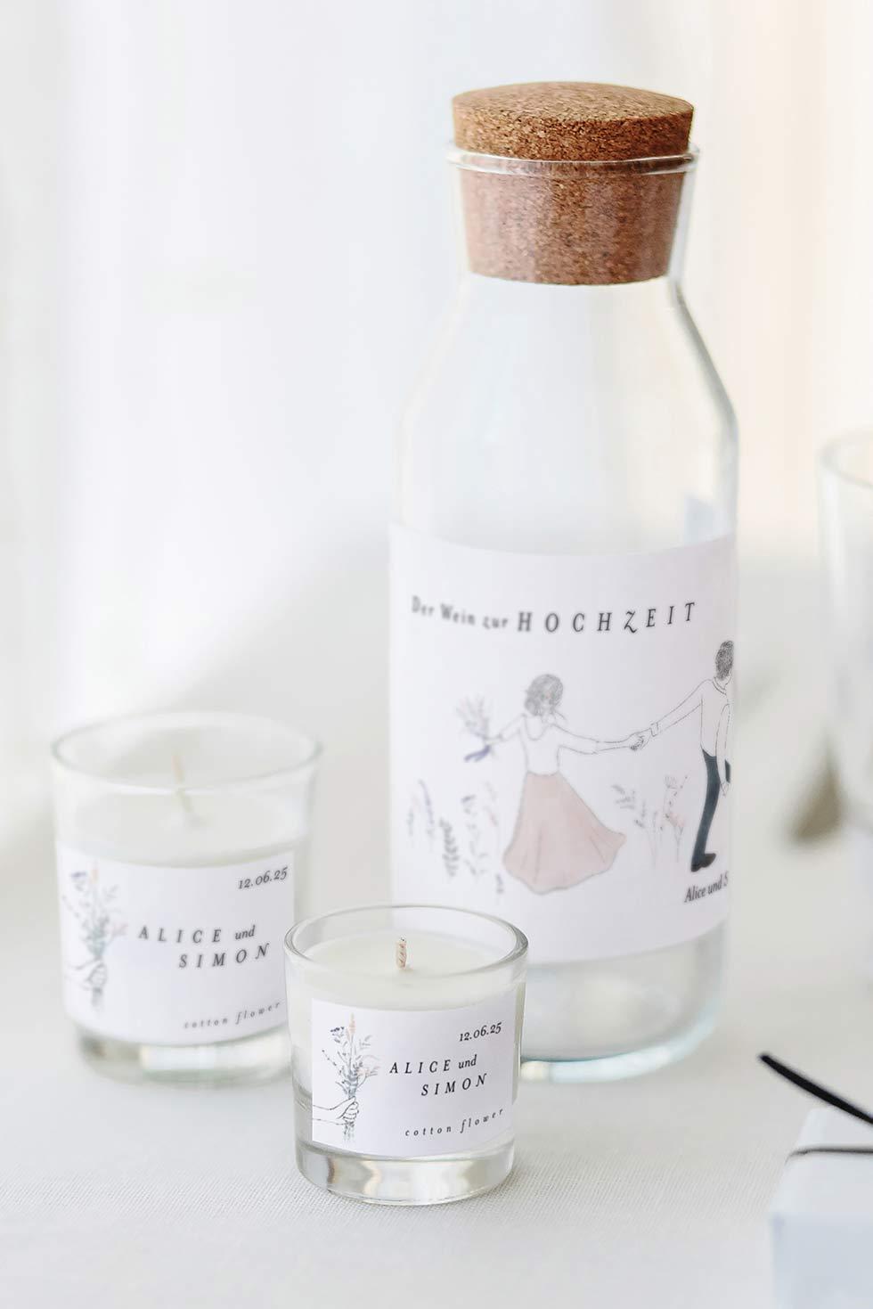 Weinflaschen Etiketten