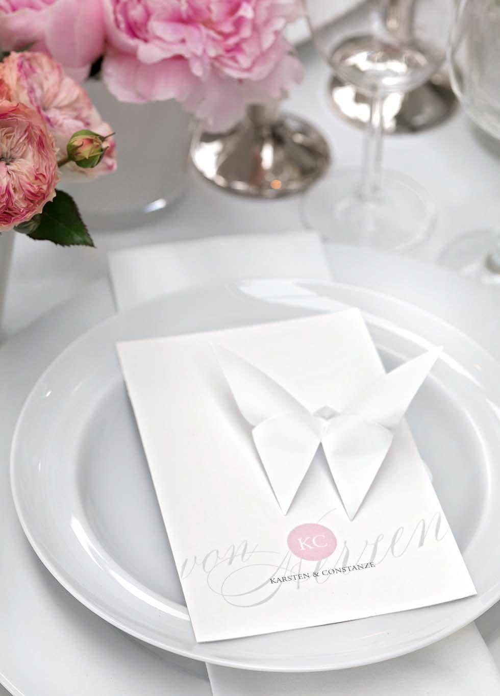 Papier-Schmetterling Hochzeit
