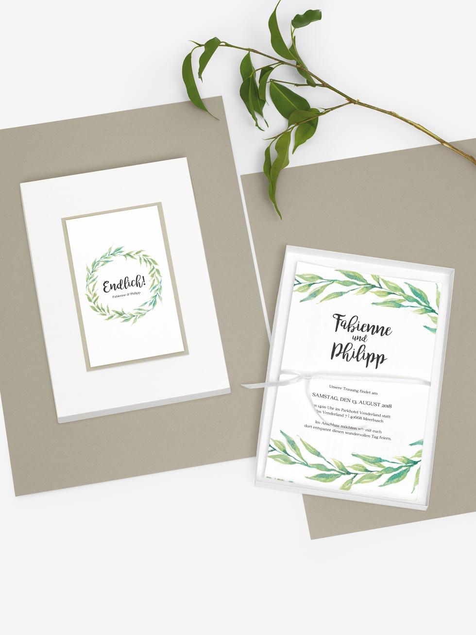 Schachteln für Hochzeitsfotos