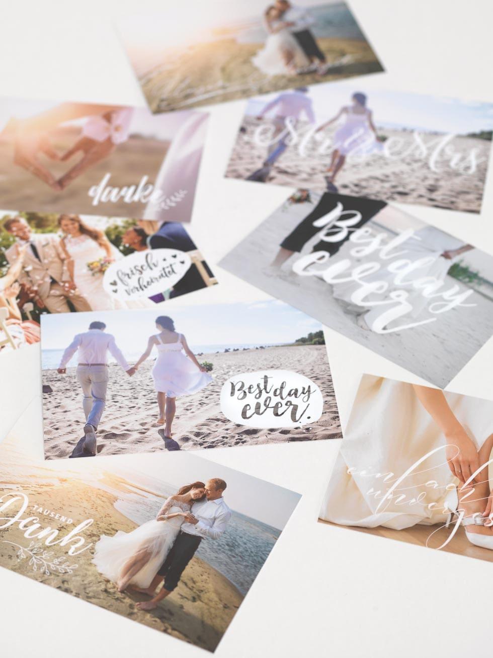 Dankeskarte Hochzeit Vorlagen