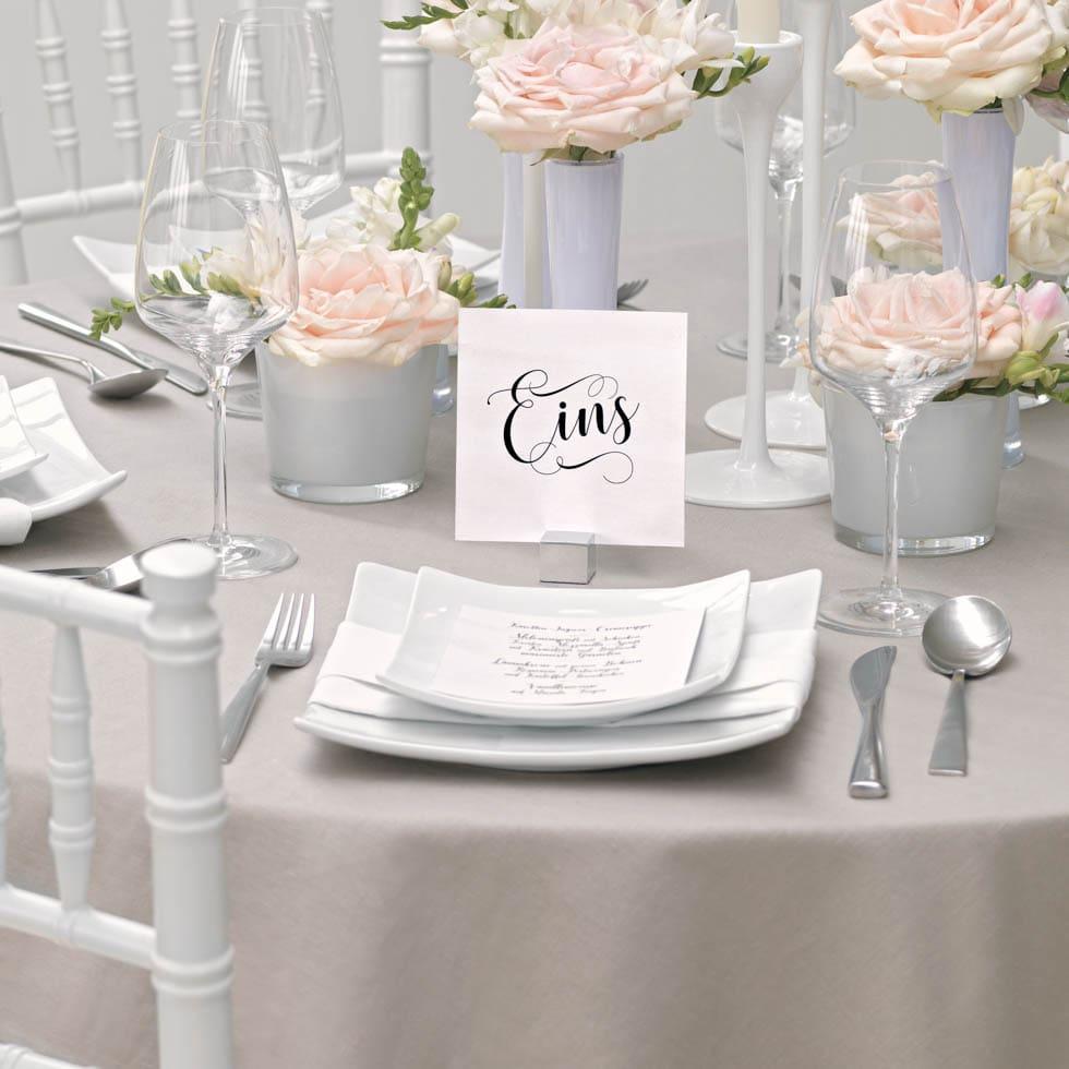 Tischnummern Kalligraphie